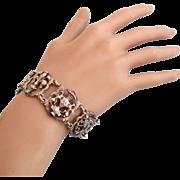 Vintage Cini Rare Sterling Medieval Theme Bracelet
