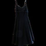 La Belle Black Flirty Date Night Dress