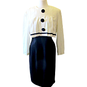 Vintage Lois Snyder Dani Max Black and Cream Dress