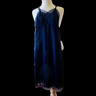 Vintage Yolande Navy Blue Full Slip