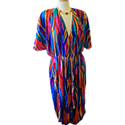 Vintage Caron Chicago 1980's Psychedelic Dress