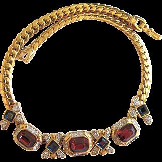 Vintage Craft (aka: Gemcraft) Gem Colored Necklace