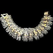 Vintage Mint Pegasus CORO Rhinestone Bracelet
