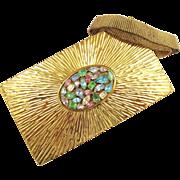 Evans Sunburst Jeweled Minaudière Carry-All Purse - Book Piece