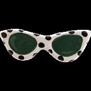 Vintage Flying Colors Ceramic Sunglasses Pin - Super Cute!