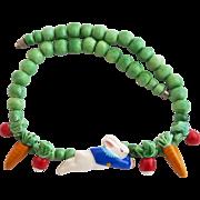 Vintage Flying Colors Ceramic Peter Rabbit Necklace