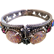 Florenza Art Glass Clamper Bracelet