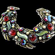 Vintage Florenza Art Glass Bracelet