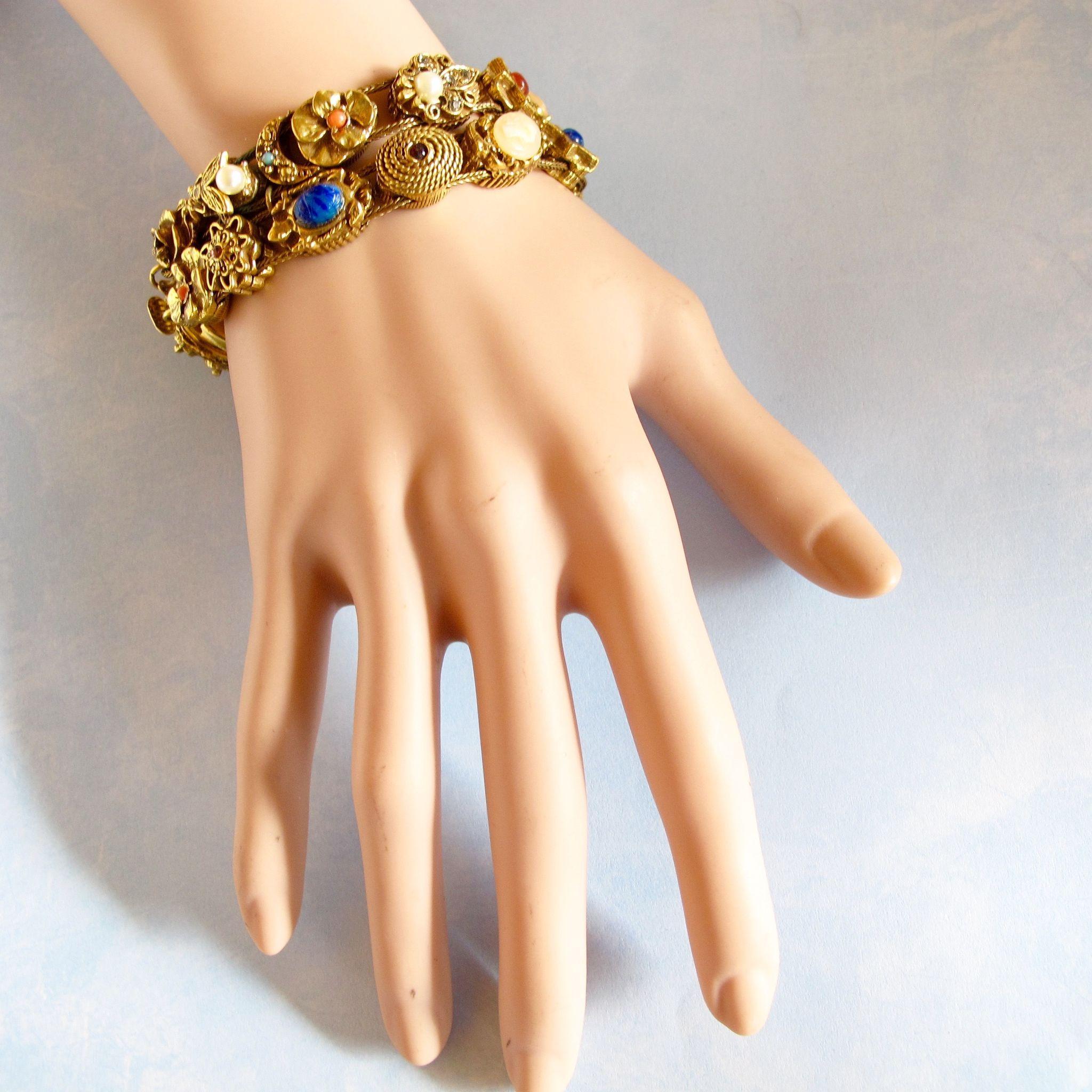 Unsigned Goldette Double Slide Bracelet - Book Piece ...