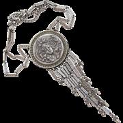 Vintage Goldette Goddess Medallion Pendant Necklace