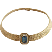 Vintage Grosse Germany Gold Tone Choker Necklace