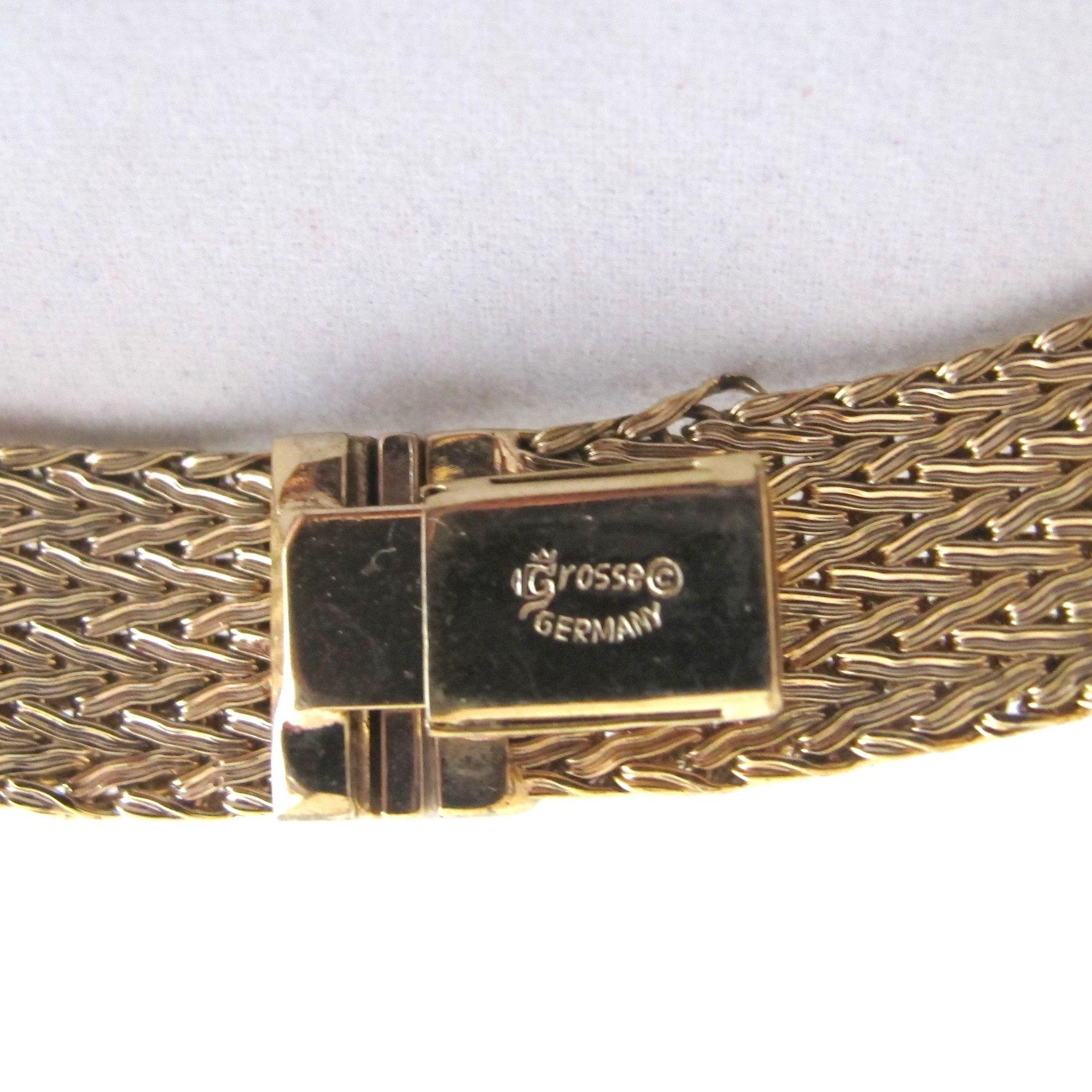 vintage grosse germany gold tone choker necklace from 2heartsjewelry rl on ruby lane. Black Bedroom Furniture Sets. Home Design Ideas