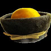 Vintage Schiaparelli Russian Cossack Style Brushed Felt Hat