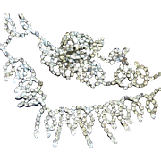 Hobe Clear Rhinestone Loop Special Occasion Necklace