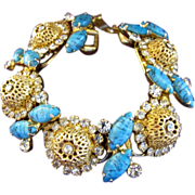 Delizza and Elster (AKA:  Juliana) Gold Filigree Ball Bracelet - Book Piece