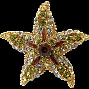 Florenza Ornate Rhinestone Starfish PIn