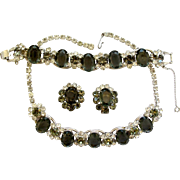 Delizza and Elster (aka: Juliana) Charcoal Parure - Book Piece