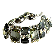 Delizza and Elster (AKA:  Juliana) Black Diamond Rhinestone Bracelet
