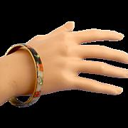 David Kuo Cloisonné Bangle Bracelet