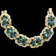 Lisner Green Rhinestone Bracelet