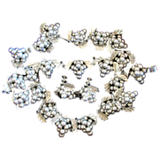Mexico Sterling Silver Iguala EML Grape Cluster Parure Set - Book Piece