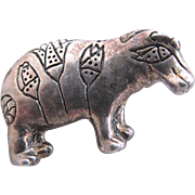 Vintage MMA (Metropolitan Museum of Art) Silver Toned Hippo Pin
