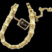 Vintage Monet Bamboo Link Bracelet with Original Tags