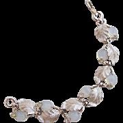 Vintage Pennino Pale Blue Opalescent Leaf Bracelet