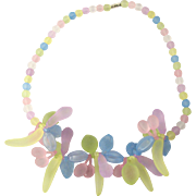 Vintage Lucite Fruit Necklace