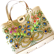 Enid Collins of Collins of Texas Jewel Bokay Tote Purse
