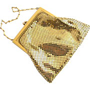 Vintage Whiting & Davis Small Gold Tone Mesh Purse