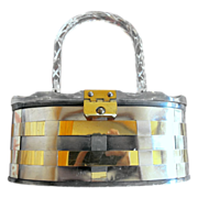 Lucite and Metal Weave Purse / Handbag