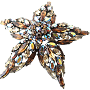 Vintage Sherman Starfish Japanned Brooch