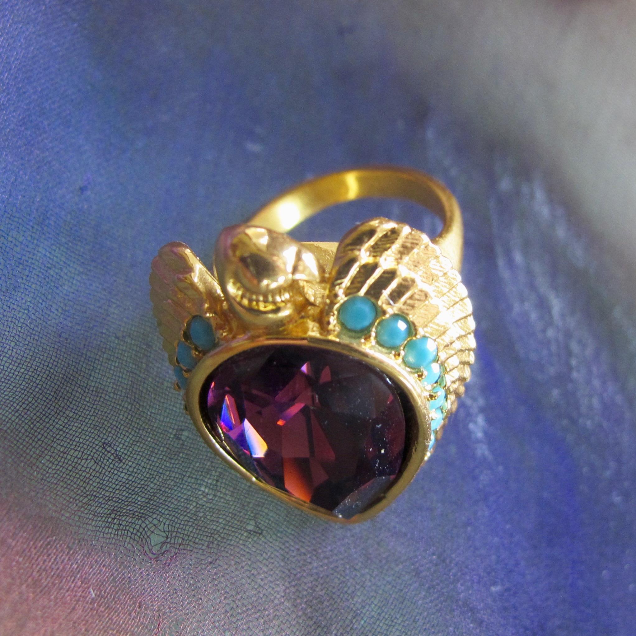Elizabeth Taylor For Avon Falcon Ring Size 7 Book