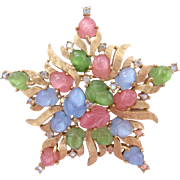 Trifari Pastel Fruit Salad Star Pin
