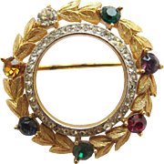 Trifari DEAREST Love Circle Pin