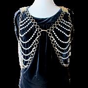 Rare Vintage Trifari Faux Pearl Jewelry Vest