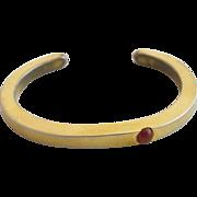 Vintage Gold Tone Tulla Booth Thin Cuff Bracelet