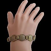 Vintage Brassy Paris Souvenir Bracelet
