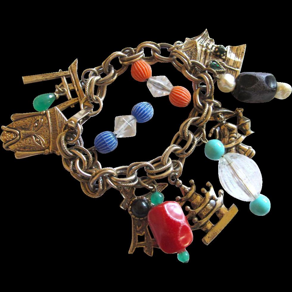vintage asian symbol charm bracelet from 2heartsjewelry rl