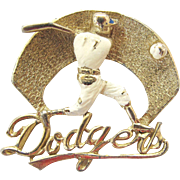 Vintage Dodger Slugger Fan PIn