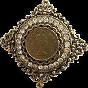 Vintage Large Queen Elizabeth Regina Brooch
