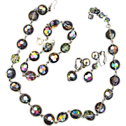 Bergere Carnival Glass Style Glass Bead Parure