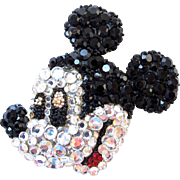 Wendy Gell Rare Huge Mickey Mouse Brooch - Book Piece