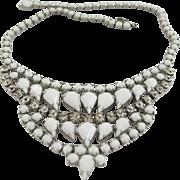 Vintage Weiss White Milk Glass Necklace
