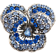 Vintage Weiss Blue Pansy Pin / Brooch