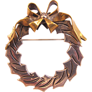 Talleres De Los Ballesteros Sterling Silver Wreath Pin - Mexico