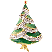 JJ Green Wash Christmas Tree Pin - Book Piece