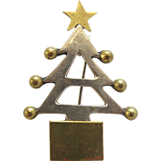 Vintage Mexico Sterling Silver Christmas Tree Pin
