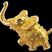 Vintage Jomaz Elephant Pin